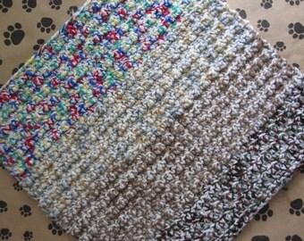 Crocheted Pet Blanket - Multicolor Tweed