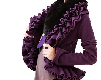 HOLIDAY SALE  Ruffle fleece jacket