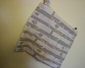 sale 20ff - medium organic WETBAG 12x14 cloth diapers swimming travel pul cotton ORGANIC forest tree bird print by birch fabrics