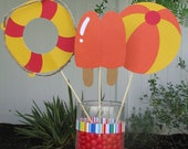 Pool Party Table Decorations - Set of 3 - MADE TO ORDER