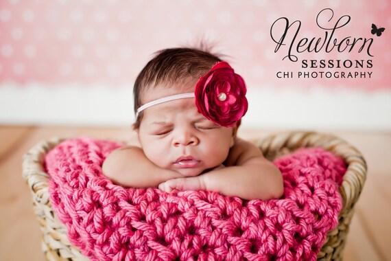 Dark Pink Flower Headband