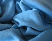 merino wool jersey fabric : heavy weight bright blue