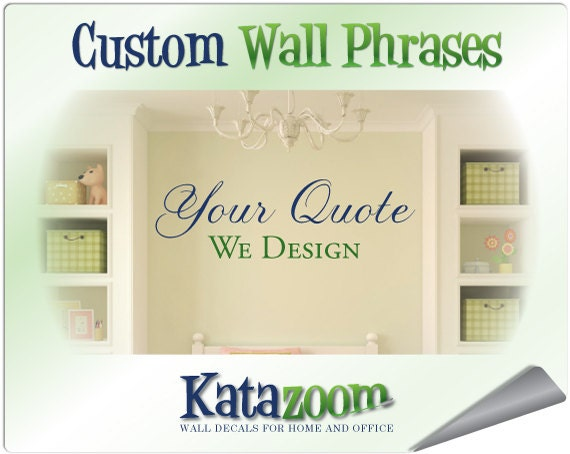 Wall Vinyl Design Your Own : Custom vinyl wall stickers lettering decals for home office