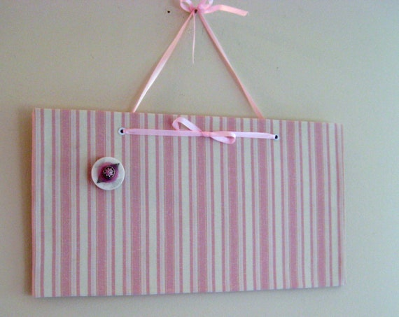 Unframed Mini Magnet Board, photo memo board, French chic magnet board, Button Magnet included, 7.5 x 14 inches