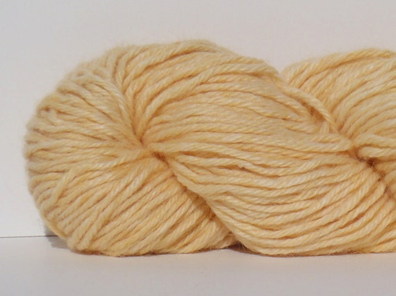 Buttercup- Hand Dyed Worsted Weight Yarn - Alpaca / Acrylic Blend