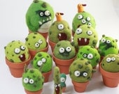 Needle felting cactus monster kit