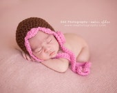 Download PDF CROCHET PATTERN 035 - Lil' bonnet with Rose - Size 0-3 months