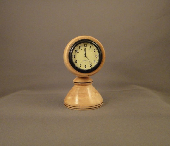 Desk Clock - Birdseye Maple