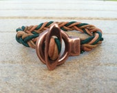Braided Leather Bracelet - FREE SHIPPING USA - for Charity