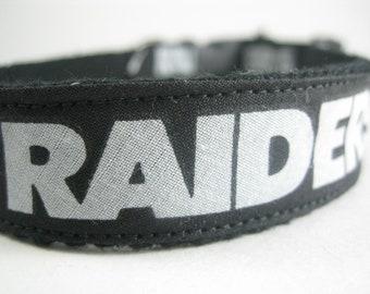 Hemp dog collar - Oakland Raiders