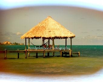 Cabana Through Rose-tinted Glasses - Belize - 8x10 Photograph