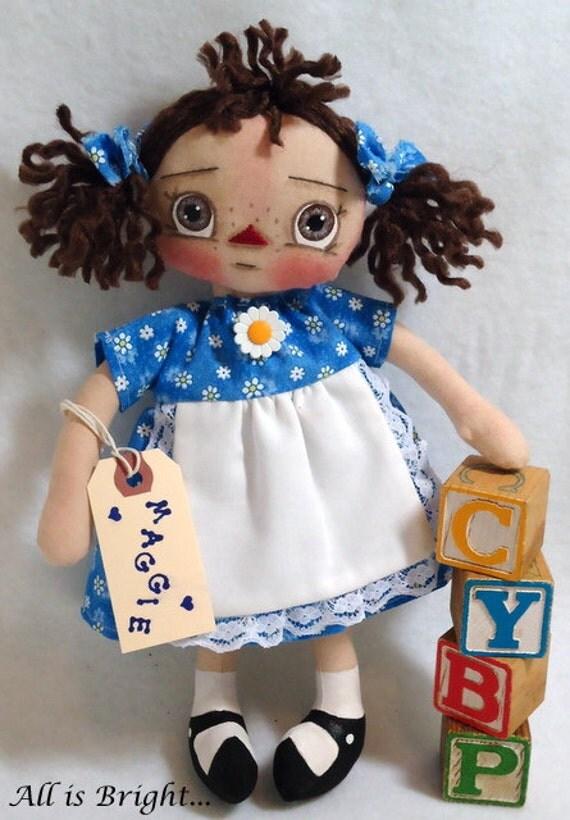 Raggedy Doll - Maggie - Cloth Doll