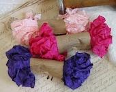 Shabby Wrinkled LOOPSY ribbon bundle, 15 yards