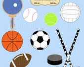 Sports Clip Art Set - Personal and Commercial Use - Digital Instant Download