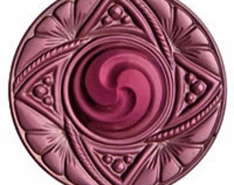 40mm Gold-Pink Victorian Swirl Glass Jewel for Stained Glass and Jewelry