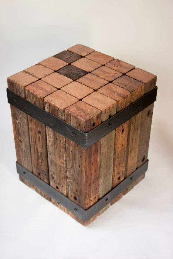 reclaimed wood table accent table bistro table wodd and