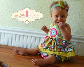 Baby Girl Sewing Pattern - The Hannah Design - Ruffle Top, Bloomer and Fabric Flower Pattern