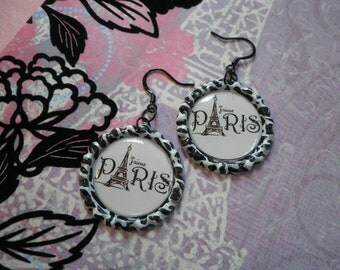 Just Paris Bottlecap Earrings