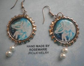 Fairy Dressed in Blue Earrings