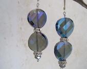 Royal Blue Crystal Earrings