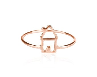 home ring- gold plated- free shipping