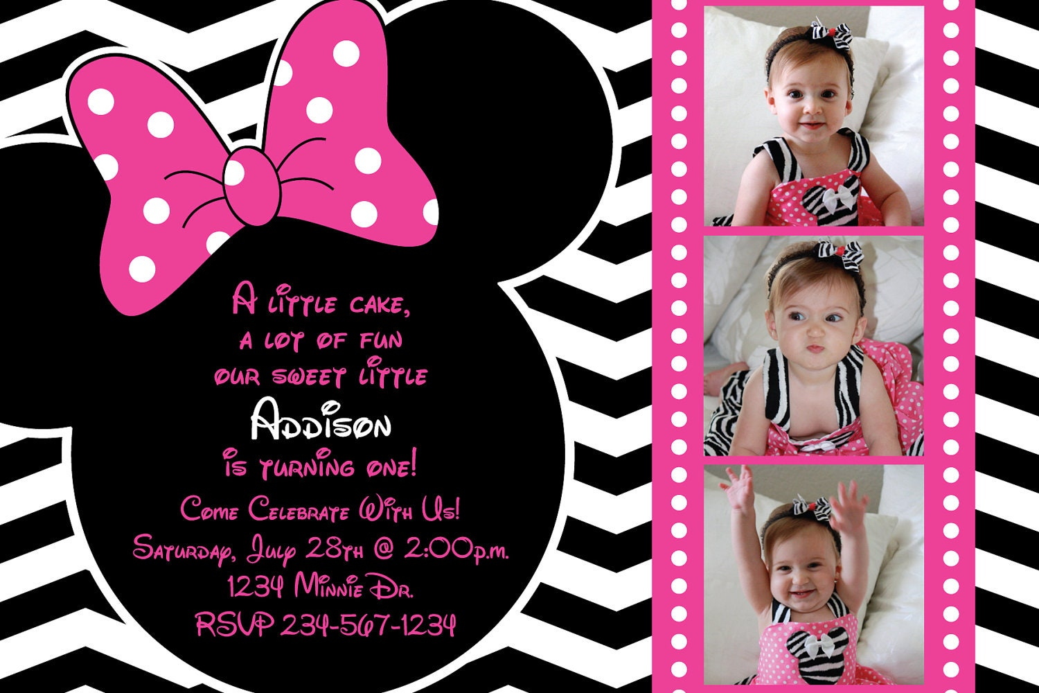 Completely Satisfied Birthday Wallpapers: Minnie Mouse Chevron Background Birthday By