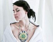 RESERVED for dear N - - Taj Mahal beaded Statement Necklace