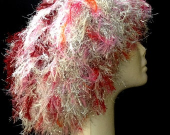 Festive Pink, Red and Silver Wig Hat Half Price HALLOWEEN SALE