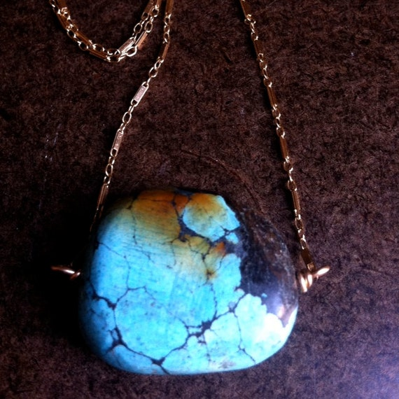 Earth Turquoise Pendant Necklace