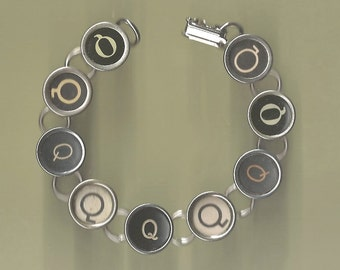 Typewriter Key Bracelet - All Q Keys