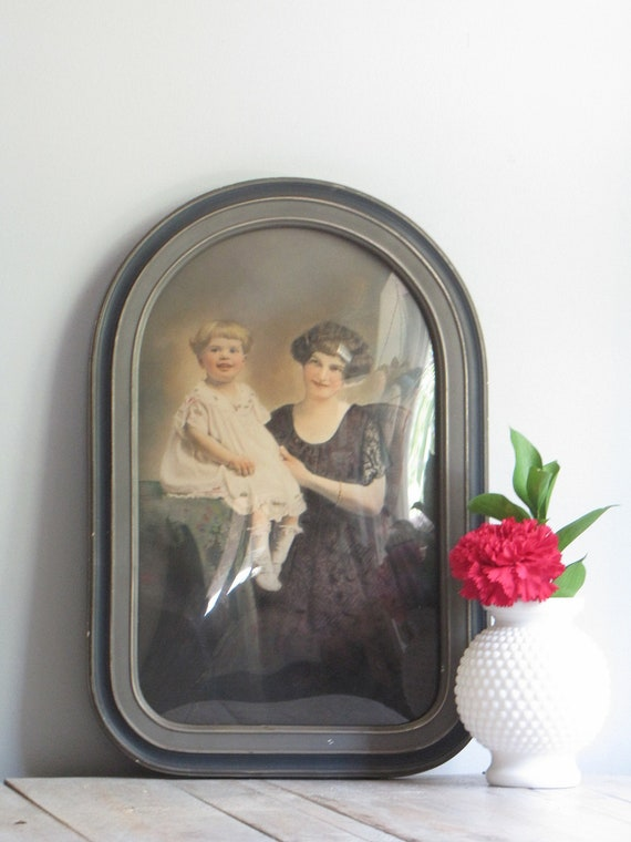 reserved for rkirby0102 antique portrait and cathedral convex frame