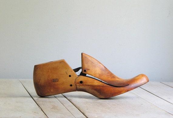 antique wooden cobbler mold