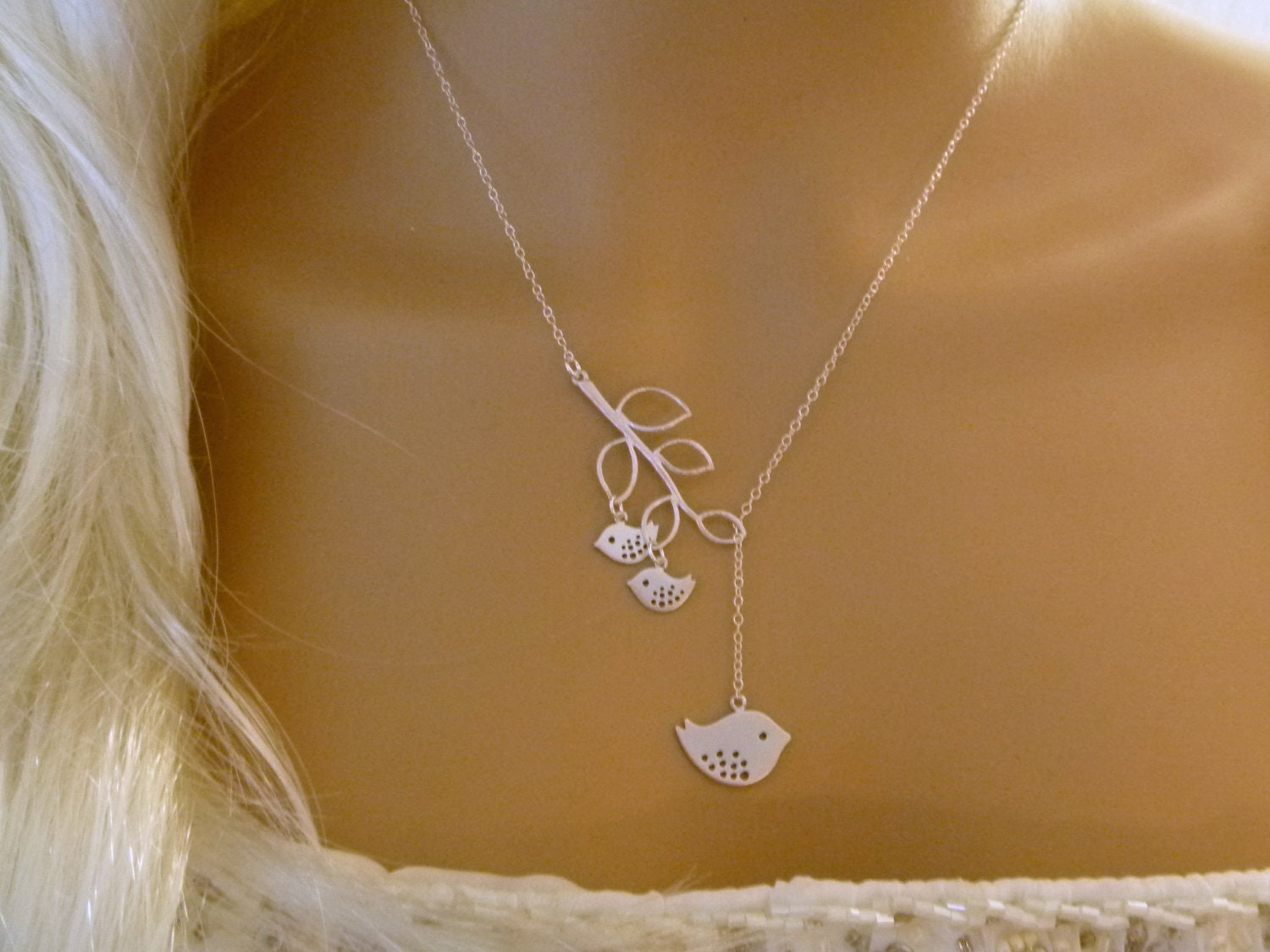 Mommy And Two Baby Birds Necklace Mother And Child Mom