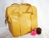Golden Yellow Samsonite Carry On Tote Luggage