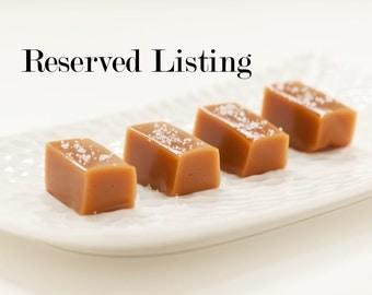 Reserved Listing - Fleur de Sel Caramels - 1/4lb packages