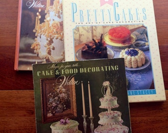 3 Cake Decorating Books Wilton vintage 1970s/1980s