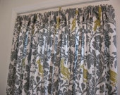 Two Curtain Panels 25 x  63 Summerland Bird