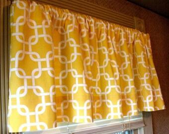 SALE NEW Window Curtain-Valance Premier Prints Corn Yellow Gotcha