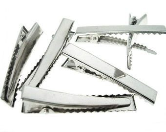 Hair Clips Single Prong Alligator Teeth Snap Barrette Bow 15 Pieces