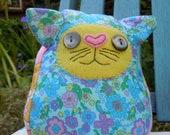 Cuddly soft retro summer toy cat