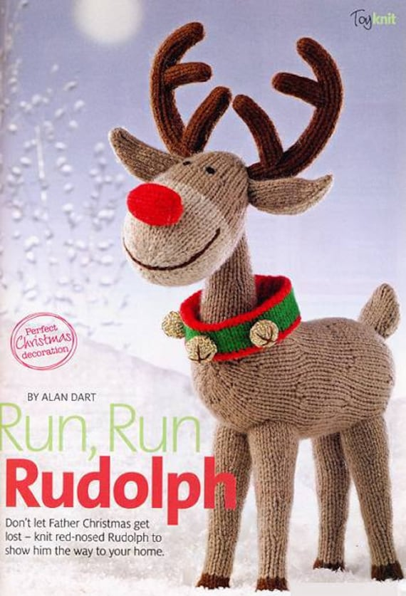 ALaN DaRT TOY KNiTTING PaTTERN RuDOLPH the ReD NoSED REiNDEER
