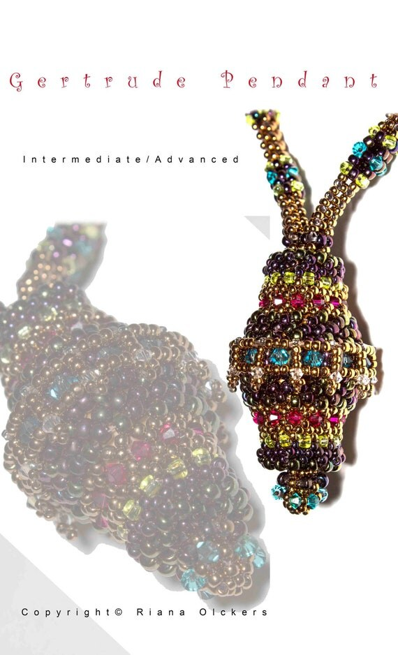 Bead Pattern Pdf - Gertrude Pendant and strap