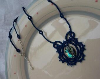 South Sea Blues - Lace Necklace