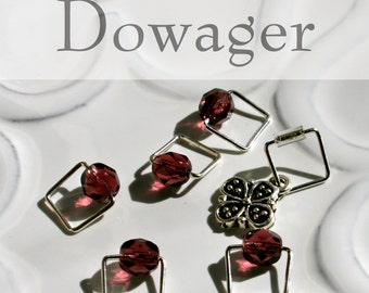 Dowager Countess of Grantham, Downton Abbey . . . Stitch Marker Set