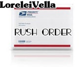 Priority shipping and RUSH processing