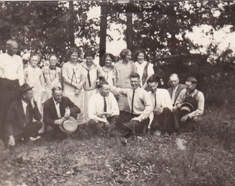 Group of People Outside - Vintage Photograph (M)