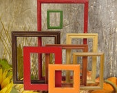 Fall Colors Autumn Home Decor Wood Picture Frame Set Shabby Chic Rustic Home