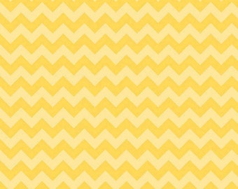 Chevron Yellow Small Chevron Tone on Tone for Riley Blake, 1/2 yard