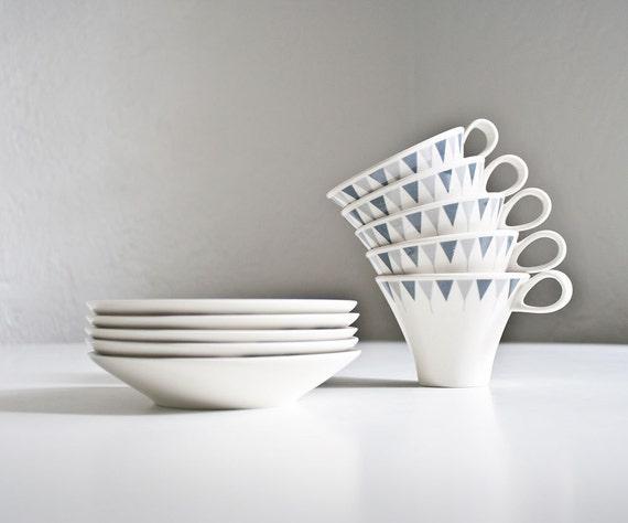 Vintage Mid Century Modern Ben Seibel Cups & Saucers