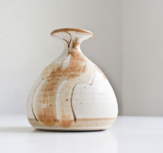 Vintage Rustic Modern Wishon Harrell Pottery Vase